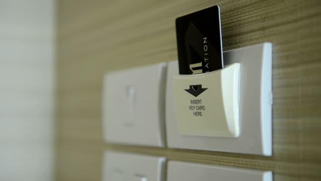 vídeos y material grabado en eventos de stock de con tarjeta de seguridad con tarjeta magnética - entrada
