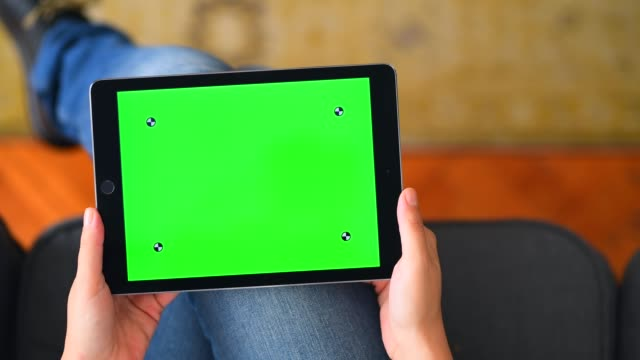 using chroma key screen table computer at home - digital tablet stock videos & royalty-free footage