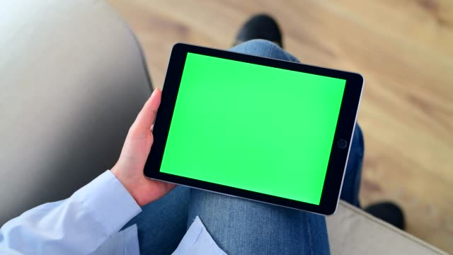 using chroma key screen tablet pc - tapping stock videos & royalty-free footage
