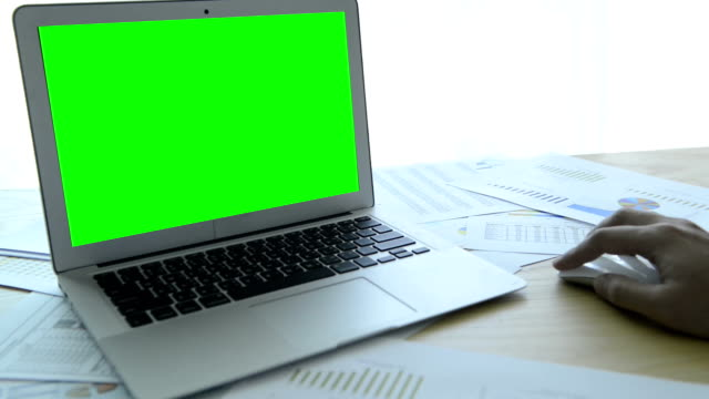 Mit computer mit Greenscreen-(HD)