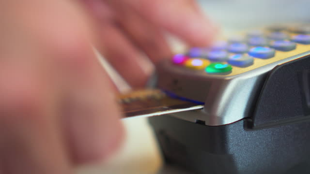 using credit card reader,close-up - spending money stock videos & royalty-free footage