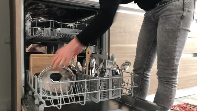 Using dishwasher
