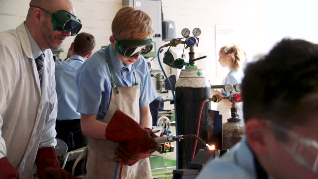 Using Gas Blowtorch in Workshop Class