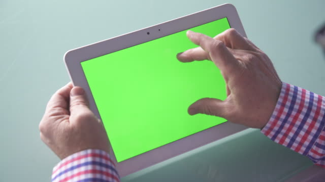Using green screen digital tablet