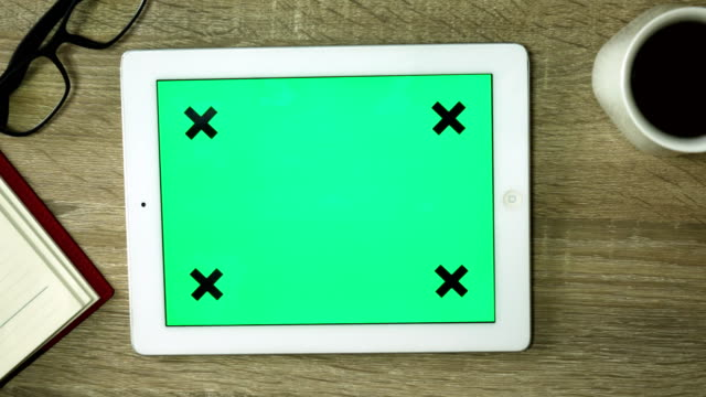 using green screen tablet pc at home - template stock videos & royalty-free footage