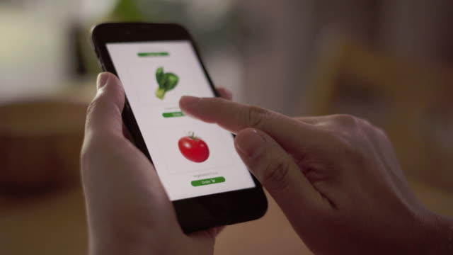 using mobile phone order food delivery - ordering stock videos & royalty-free footage