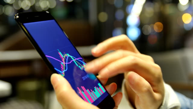 Using moblie phone analyzing stock market data