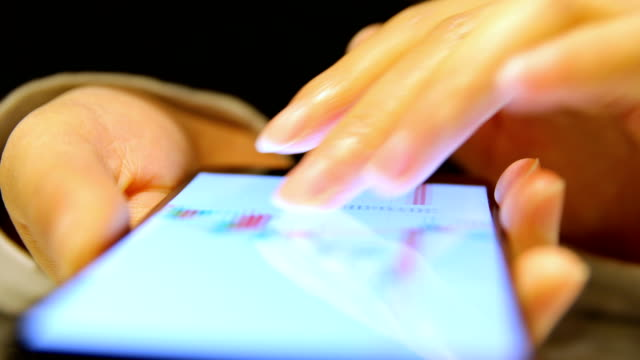 Using moblie phone analyzing stock market data