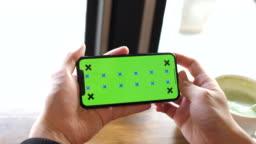 Using phone Green screen