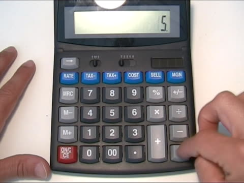 using pocket calculator - orthographic symbol stock videos & royalty-free footage