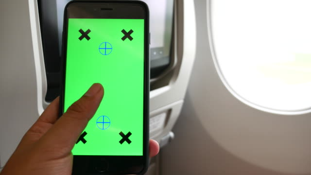 Using Smart phone on Airplane with Green screen
