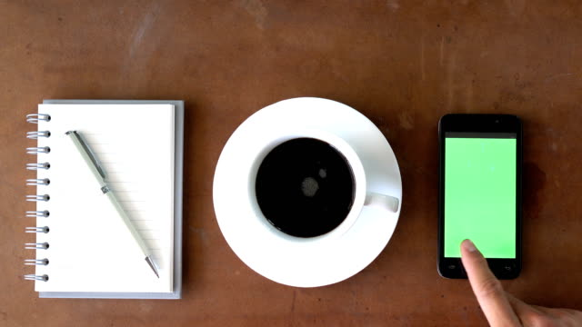 using smart phone - table top view stock videos & royalty-free footage