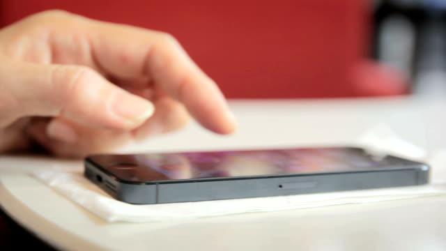 Using smart phone,close up