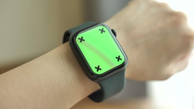 using smart watch green screen - smart watch stock videos & royalty-free footage