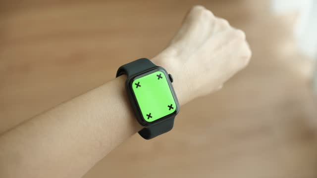 using smart watch green screen - human limb stock videos & royalty-free footage