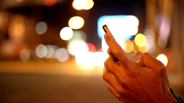 using smartphone at night - profile stock videos & royalty-free footage