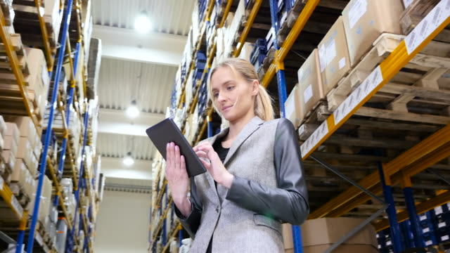 Using tablet in distribution warehouse