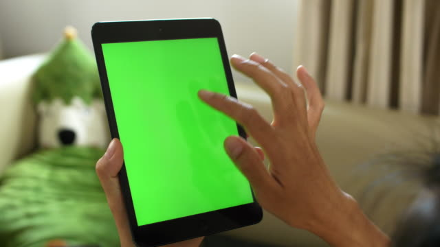 Tablet verwenden mit Greenscreen zu Hause