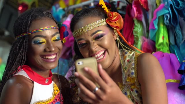 using technology at carnival - rio de janeiro stock videos & royalty-free footage