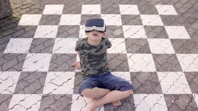 using virtual reality (VR) headset outside