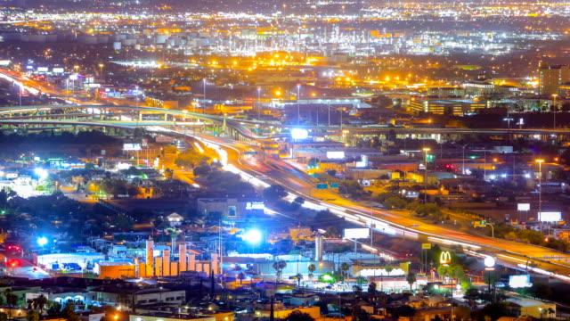 us-mexico border crossing at ciudad juarez, mexico - el paso, tx: interstate 10 - cross stock videos & royalty-free footage