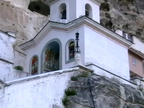 uspensky monastery,  bakhchisarai, ukraine, crimea - kryssa bildbanksvideor och videomaterial från bakom kulisserna