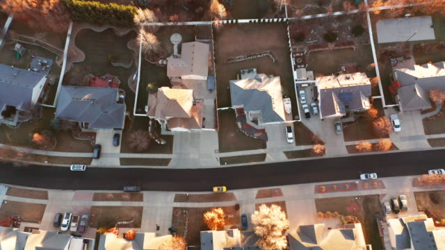 ユタ オータム ホームズ エアリアル - 宅地点の映像素材/bロール