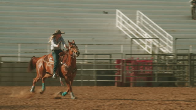 utah barrel racing rodeo - rodeo stock videos & royalty-free footage