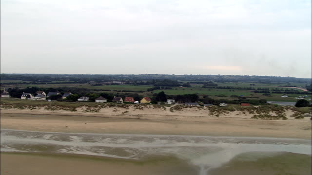 utah beach  - aerial view - lower normandy, manche, france - d day stock videos and b-roll footage