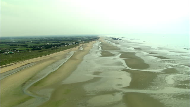 LOW AERIAL, Utah Beach , Normandy, France