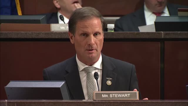 Utah Congressman Chris Stewart discusses the notion of fake news at a House Intelligence Committee hearing on Russian propaganda with representatives...