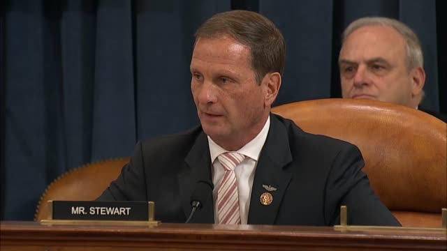 utah congressman chris stewart says at the seventh public impeachment inquiry hearing of president donald trump by the house select intelligence... - unfairness stock videos & royalty-free footage