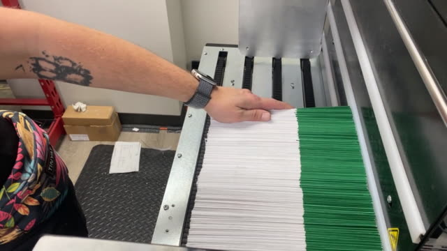 utah county elections officials and volunteers process ballots for counting in provo, ut, u.s. on tuesday, november 3, 2020 . utah is one of several... - provo stock videos & royalty-free footage