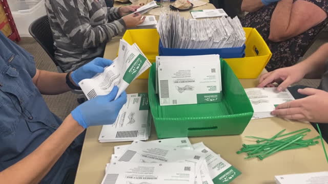 utah county elections officials and volunteers sort submitted ballots for counting in provo, ut, u.s. on tuesday, november 3, 2020 . utah is one of... - provo stock videos & royalty-free footage