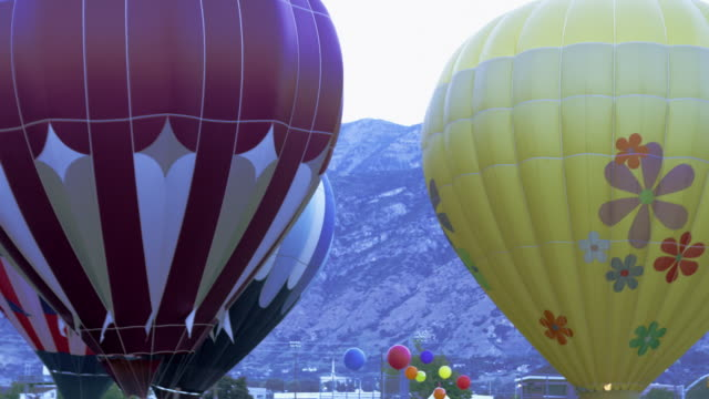 utah county, utah hot air balloons. - provo stock videos and b-roll footage