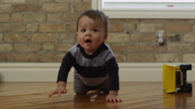 usa, utah, orem, boy (6-11 months) crawling  - crawling stock videos & royalty-free footage