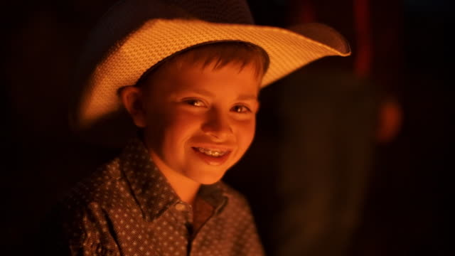 utah rancher family by the bonfire - ranch family stock videos & royalty-free footage