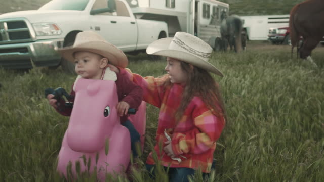 utah rancher sisters - ranch family stock videos & royalty-free footage