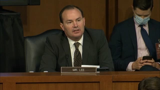 utah senator mike lee says at a senate judiciary committee business meeting during an argument over whether to report the supreme court nomination of... - court hearing stock videos & royalty-free footage