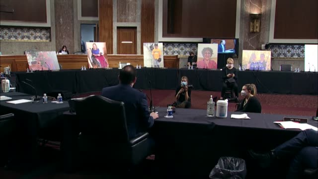 vidéos et rushes de utah senator mike lee says at a senate judiciary committee business meeting on reporting the supreme court nomination of judge amy coney barrett to... - sénat des états unis