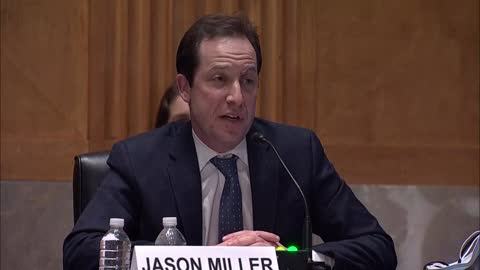 utah senator mitt romney asks office of management and budget deputy director nominee jason miller at his senate governmental affairs committee... - nomination stock videos & royalty-free footage