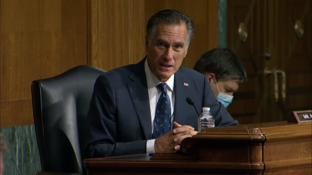 utah senator mitt romney says at a senate foreign relations committee hearing with secretary of state mike pompeo there was great interest sometimes... - big tech stock videos & royalty-free footage