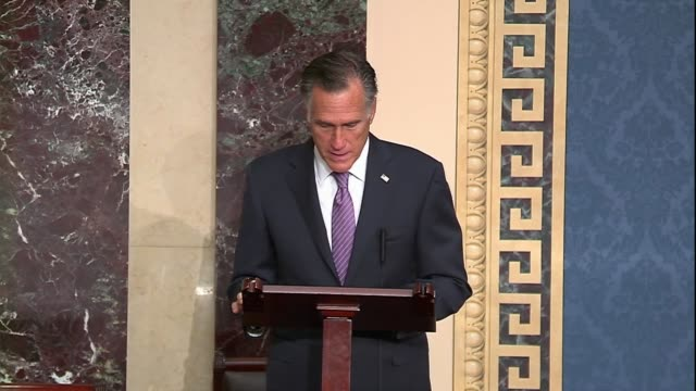 utah senator mitt romney says during 30 hour floor debate before a confirmation vote for seventh circuit judge amy coney barrett to the supreme court... - partisan politics stock videos & royalty-free footage
