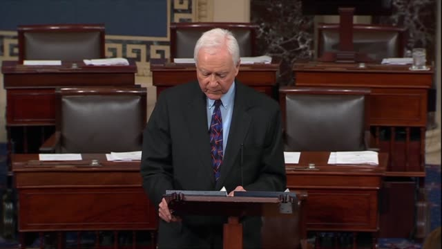 utah senator orrin hatch says all have a special duty to each other to treat one another with dignity and respect that simply to tolerate but to love... - tenant stock videos & royalty-free footage