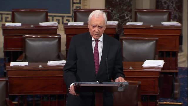 utah senator orrin hatch says democrats were fixated on the issue of supreme court nominee judge brett kavanaugh's years of service in the executive... - brett kavanaugh stock videos and b-roll footage