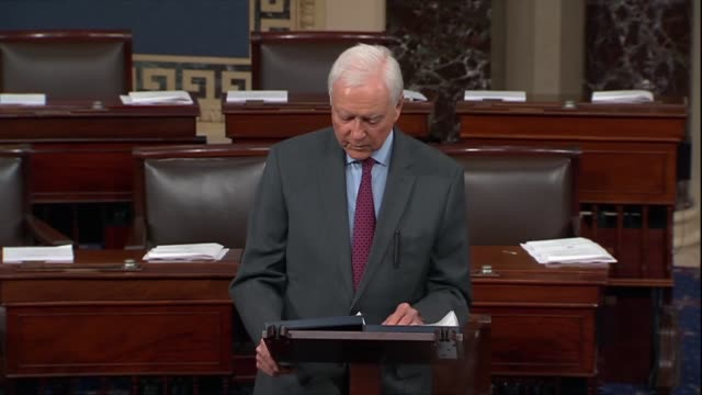 utah senator orrin hatch says he has reviewed opinions of supreme court nominee judge brett kavanaugh what all colleagues should be doing in reading... - brett kavanaugh stock videos and b-roll footage