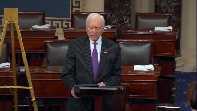 utah senator orrin hatch says he is not surprised democrats would use a fictional constitution to pursue a political goal since their judges do the... - philosopher stock videos & royalty-free footage
