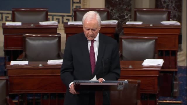 utah senator orrin hatch says it was true that republicans sought white house documents for justice elena kagan's nomination because at the time of... - brett kavanaugh stock videos and b-roll footage