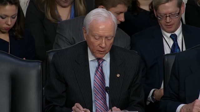 utah senator orrin hatch says on the first day of a confirmation hearing for judge neil gorsuch to the supreme court that of all stripes supporters... - humility stock videos and b-roll footage