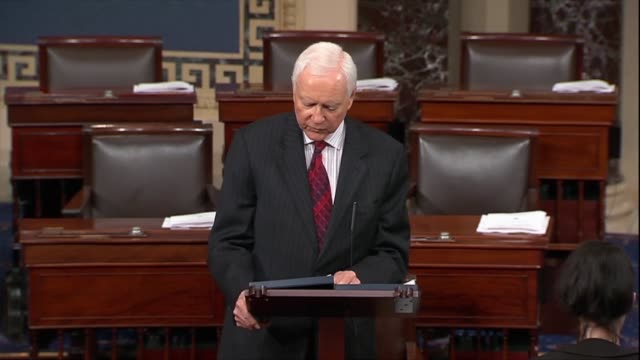utah senator orrin hatch says only nine days into the process for supreme court nominee judge brett kavanaugh attacks were beyond parity, directly... - out of context stock videos & royalty-free footage